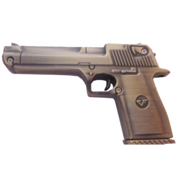 флешка 16Гб MemoryKing Пистолет металлический, медный