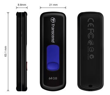 usb-flash drive / флешка 64 ГБ Transcend JetFlash 500